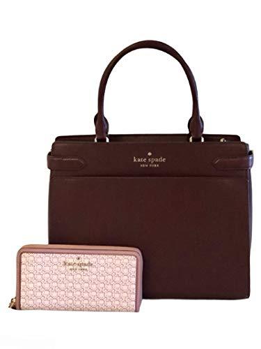 Kate Spade New York Staci サッチェルショルダーハンドバッグ 大きなジッパーリンク財布 チェリーウッド