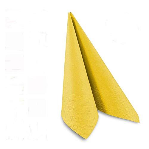 Tafel-Servietten, 3-lagig, 33 x 33 cm, Inhalt 250 St, in unterschiedliche Farben, jeweils abgestimmt auf Einrichtung & Dekoration, für Gastronomie & Zuhause, hochwertiges Material, gelb