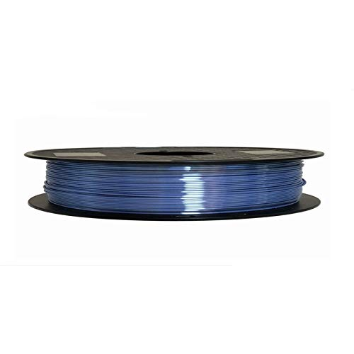 SRY-Holster HH-DYHC, 1pc Silk Pla 3D Printer Filament 1.75mm 0.5kg Shine Silky Gold 500g 3d Pen Printing Filament Rich Luster Metal Metallic Material (Color : Silk sapphire blue)