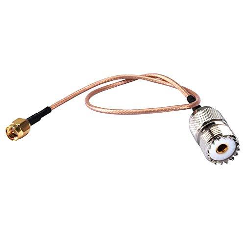 Antennenkabel SMA Stecker auf UHF SO-239 weiblich, flexibel, Koaxial-Qualität, geringer Verlust, RG316 für RF-Anwendungen