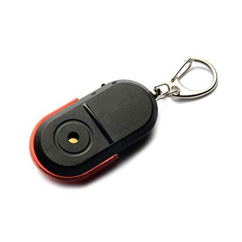 Alarma inalámbrica antipérdida Buscador de llaves Localizador Silbato Sonido Llavero con luz LED