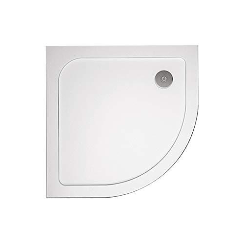 AICAit Piazza Ultraslim doccia vassoio 3 cm armata con sifone e tubo flessibile 80x80cm (Quadrante)