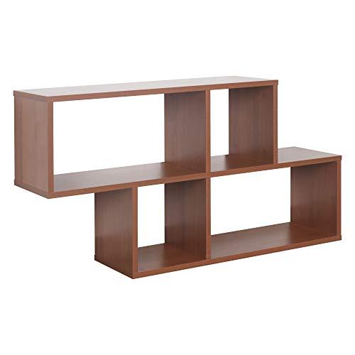 RICOO WM051-ER Estantería Pared 100x53x20cm Estante Colgante Mueble almacenaje Flotante Muebles hogar Almacenamiento Libros Madera Roble marrón rústico