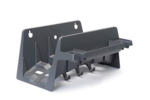 REHAU Wandschlauchhalter aus Kunststoff, Schlauchhalter mit praktischen Haken und Aufhangmulden