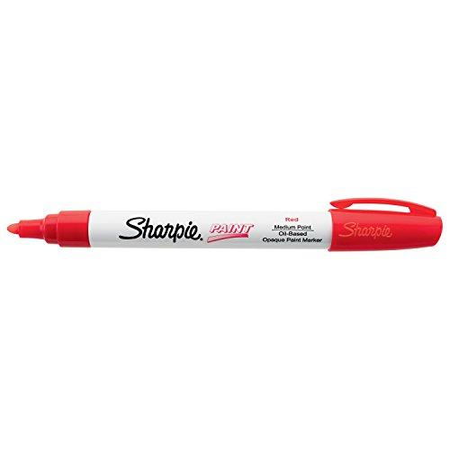 Sharpie Oil-Based Paint Marker, Medium Point, Single, Red (SAN35550)