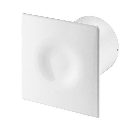 Badlüfter Wand-Ventilator Ø 100 mit Nachlauf , Kugellager Silent Orion - Line System+ Weiß (weiß)