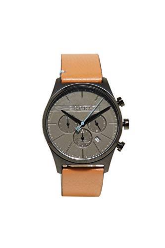 Esprit Herren Chronograph Quarz Uhr mit Leder Armband ES1G053L0035