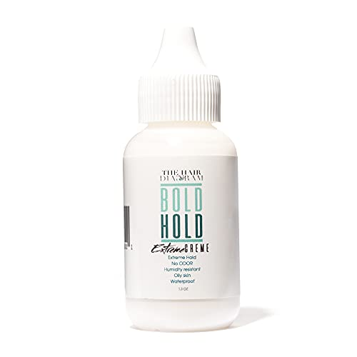 The Hair Diagram - Bold Hold Extreme Creme - Strong Hold Glue For Lace Front Wigs and Hair Systems - Invisible Bonding - Non Toxic - No Odor or Latex - Humidity Resistant & Waterproof - 1.3oz