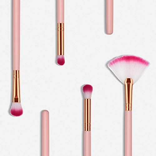 MEIYY Pinceau de maquillage 4Pcs Wooden Foundation Cosmetic Eyebrow Eyeshadow Brush Makeup Brush Sets Tools Foundation Powder Concealer Makeup Tools