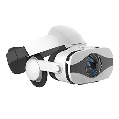 SFLRW Auriculares VR con mango Bluetooth, auriculares de realidad virtual de gafas 3D para juegos de VR y películas en 3D, sistema de cuidado de los ojos para teléfonos inteligentes para iPhone y Andr