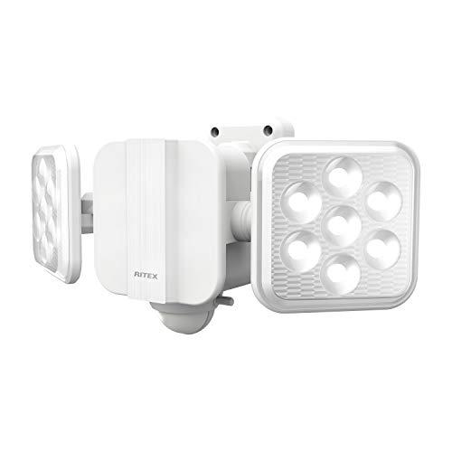 ムサシ RITEX フリーアーム式LED高機能センサーライト(5W×2灯) 「ソーラー式」 S-220L ホワイト