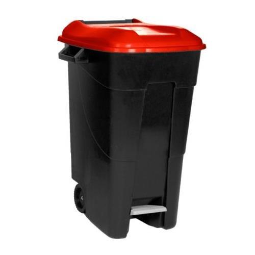 Tayg EcoTayg 120 - Contenedor de residuos con pedal, Rojo, 120 l