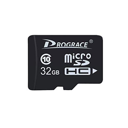 PROGRACE 32GB Micro SD Card Class 10 TF Card Memory Card for Kids Camera