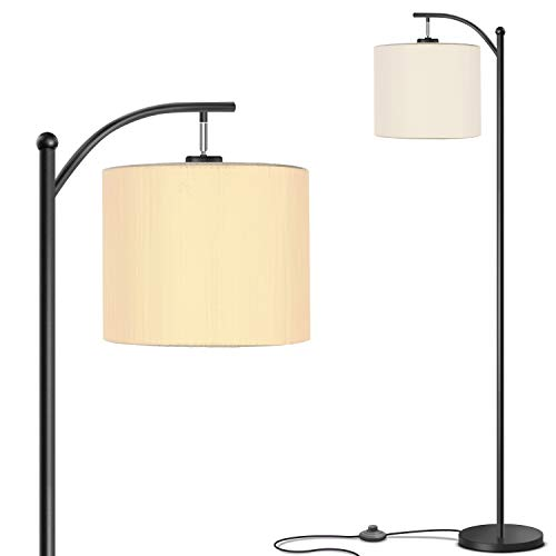 professional Addlon Living Room Floor Lamp with Shade and 9W LED Lamp-Contemporary Floor Lamp-Bedroom Floor Lamp-Black