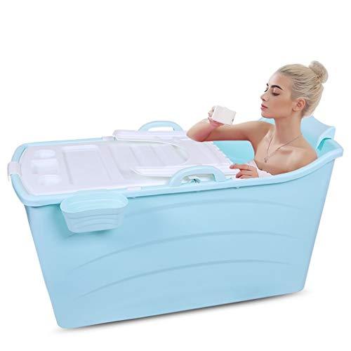 GLY Badewanne, Mobile Badewanne, Anti Rutsch Badewanne, Faltbare Badewanne Erwachsene for Erwachsenen Mit Abdeckung