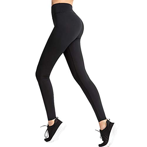 Lazapa Yoga Leggings for Women, High Waist Butt Lift Tights Super Stretchy Ultra Soft Casual Pant Tummy Control Trousers Black