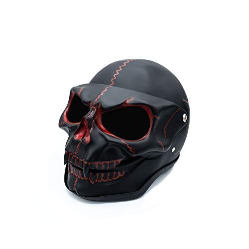 Mienloco Helm Dekohelm Skull Spaß Fun Totenkopfhelm Skullhead Grußelig… (Totenkopf schwarz)