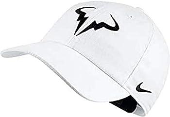 Nike Mens Aerobill Rafa Nadal H86 Tennis Hat White/Black 850666-101