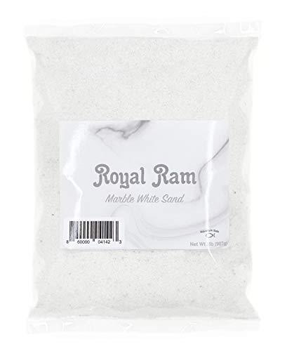 Royal Ram 2 pounds Natural White Marble Decorative Real Sand - for Interior Decor, Vase Filler, Sand Crafts, Aquariums & More