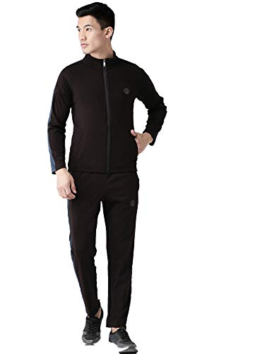 Chkokko Men's Full Sleeve Zipper Sports Gym Tracksuit