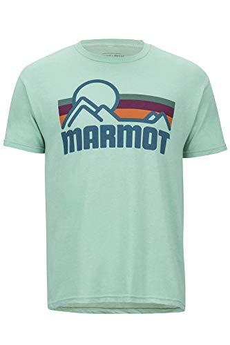 Marmot Coastal Tee Short Sleeve T-Shirt Manche Courte, Chemise de randonnée, idéal pour Le Sport, la Gym, séchage Rapide, Respirant Homme Pond Green Heather FR : S (Taille Fabricant : S)