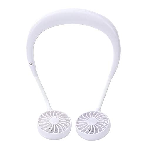 YDL Fan de Deportes USB Carga portátil Portátil Cuello Colgante Cuello Mini Ventilador Deportivo portátil 3 Velocidades Ventilador Plegable (Color : White)
