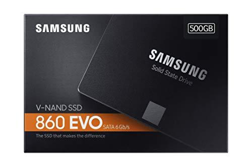 Samsung 860 EVO - Disco estado solido SSD (500 GB, 6 Gb/s) color negro