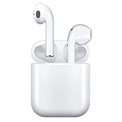 Wireless Earbuds, Bluetooth Headset Mini Size, Stereo in-Ear Wireless Headset with Microphone and Charging Box, Bluetooth Earphone with Noise Reduction Compatible with (White-2)