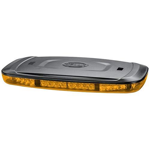 HELLA 2RL 014 565,321 LED,Luz de aviso , Mini Lightbar , 12y24V , Sujeción por magneto , transparente , amarillo , Cable: 2500mm , montaje exterior