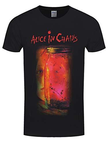 Alice in Chains Da Uomo Jar of Flies T-Shirt Maglietta Nero