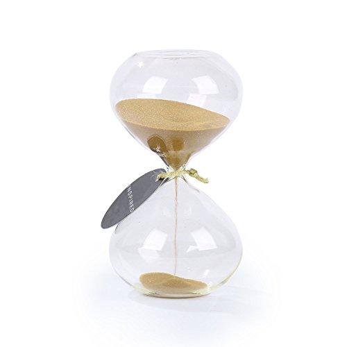 biloba 6 pollici con sabbia timer/clessidra 60 minuti - colore dorato sabbia - ispirato vetro/casa, scrivania, ufficio arredamento