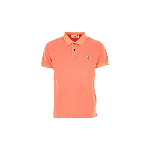 Stone Island Poloshirt aus Baumwolle, pfirsichfarben Gr. L, pfirsich