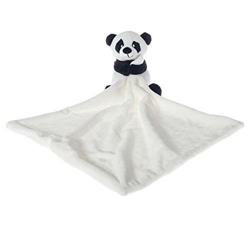 Apricot Lamb Stuffed Animals Security Blanket Panda Infant Nursery Character Blanket Luxury Snuggler Plush (White Panda, 10 Inches)