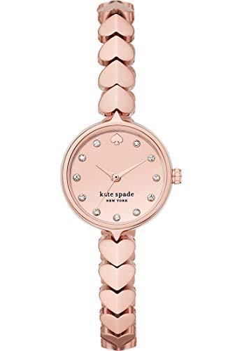 Kate Spade Hollis roségoldfarbenes Edelstahl-Herzarmband für Damenuhr KSW1589