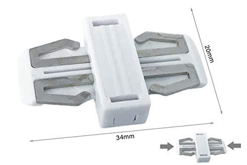 Systeem leidingsrail van kunststof, elektrisch, voor LED-strips, 2 meter, voor planken, kleur: wit