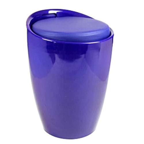 ZXQZ Zapatos de Cambio de Taburete Taburete Taburete de uñas Taburete Sofá Taburete Wine Barrel Chair Una Variedad de Colores Opcional (Color : Royal Blue)