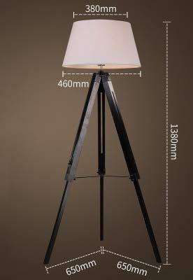 WUYUESUN American Vintage Lámpara de pie Ajustable Trípode Lámparas de pie for Sala de Estar Dormitorio Dormitorio Decoración Luz Home E27 Lámpara de pie (Lampshade Color : G)