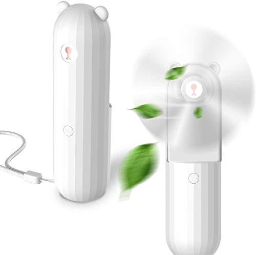 Lahuko Handventilator Tragbarer Mini Lüfter Batteriebetrieben USB Wiederaufladbar Ventilator mit 2500mAh Aufladbarem Batterie, 2 Windmodi, Stärker Wind, 24h Arbeitszeit für Reisen und Zuhause (B1)