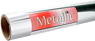 Grafix Silver Metallic Foil Paper Roll 26-Inch-by-6-Feet