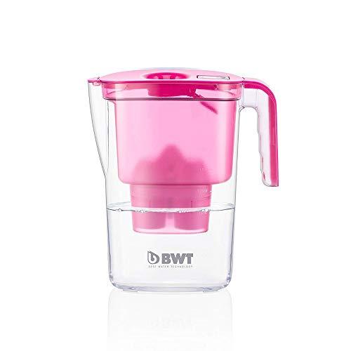BWT - 815447 - Tischwasserfilter VIDA - 2,6 l, pink- Wasserfilterkanne mit 1 Filter-Kartusche für Magnesium Mineralized Water