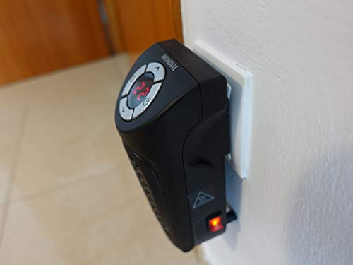 Mondial A12 Calentador, Calefactor Portátil, 350 W, Negro