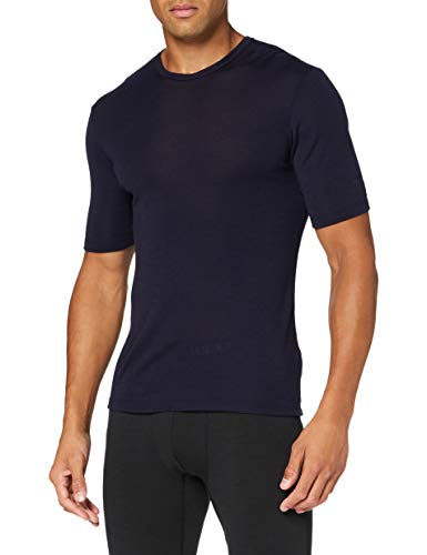 Icebreaker Herren Mens 175 Everyday SS Crewe Merino Baselayer Top T-Shirt, Midnight Navy, L