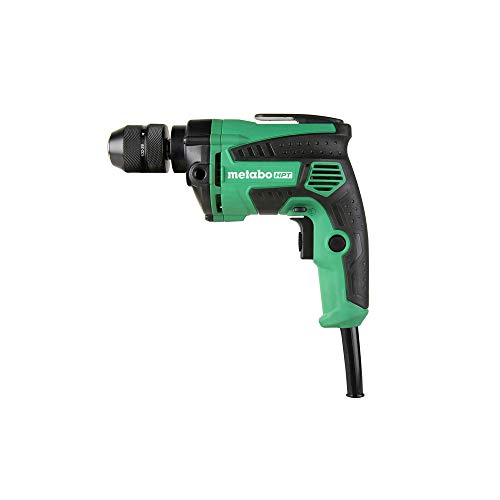 Metabo HPT Drill, Corded, 7-Amp, 3/8-Inch, Metal Keyless Chuck, Variable Speed w/ Dial, Rubber Over-Molded Handle, Forward / Reverse, 5-Year Warranty (D10VH2)