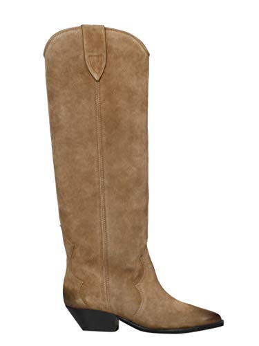 Luxury Fashion | Isabel Marant Dames BT007219A006S50TA Beige Suôde Laarzen | Herfst-winter 19