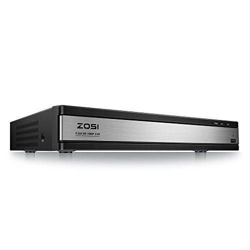 ZOSI 16Channel 1080P 4-in-1 Hybrid (AHD/TVI/CVI/Analog) Security DVR Video Recorder System for 960H/720P/1080P CCTV Surveillance Cameras with Remote Viewing & Motion Detection NO HDD