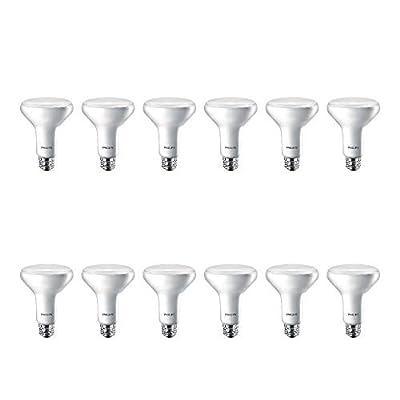 Philips LED 474213 BR30 Dimmable 650-Lumen, 5000-Kelvin, 11 (65-Watt Equivalent) Flood Light Bulb with E26 Medium Base, Soft White, 12-Pack
