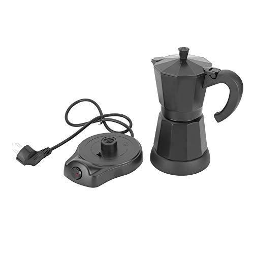 Cafetera, 300 ml de forma octogonal portátil, cafetera eléctrica, cafetera, cafetera para la oficina en el hogar 220-240 V, 6 tazas, con base separada, función automática para mantener caliente