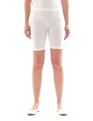 yeset Kinder Shorts Sport Pants Sportshorts Kurze Leggings aus Baumwolle Jungen Mädchen Weiss 158