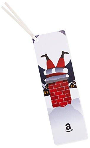 Amazon.de Geschenkkarte als Lesezeichen - 50 EUR (Weihnachtsmann im Schornstein)