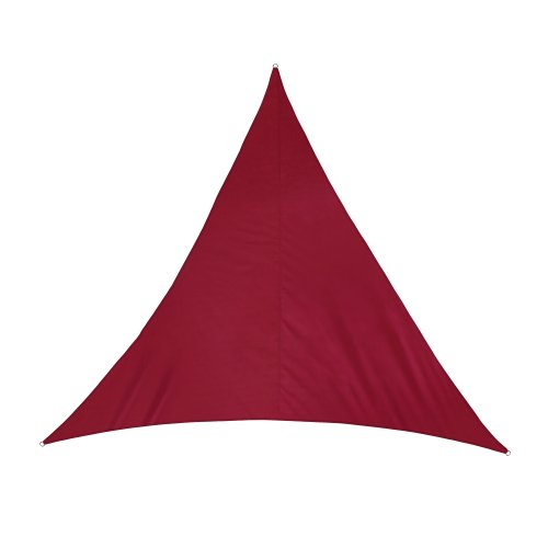 jarolift Sonnensegel Dreieck wasserabweisend, 360 x 360 x 360 cm, weinrot